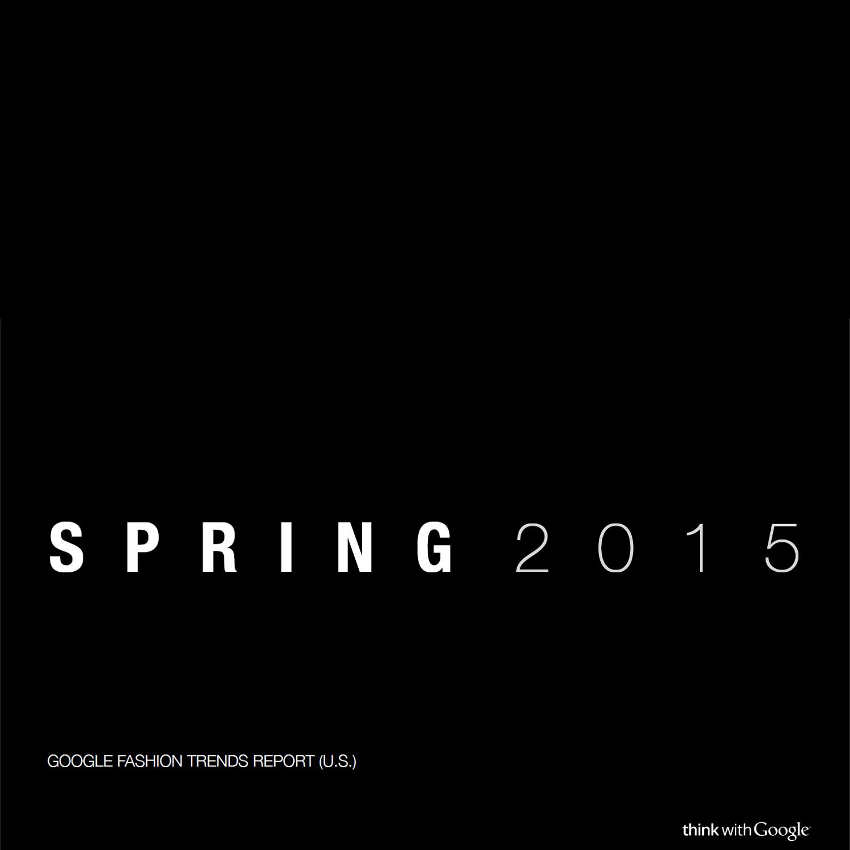 Googles Fashion Trend Report